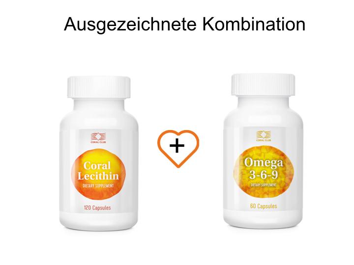 Coral Lecithin und Omega 3-6-9