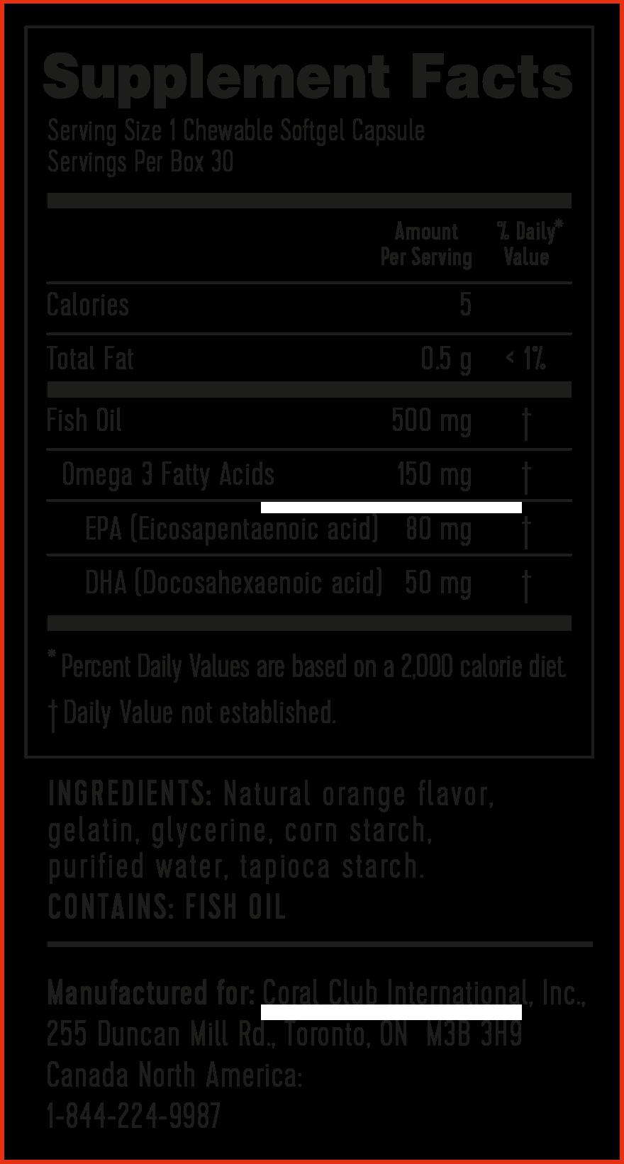 omega 3 orange zusammensetzung